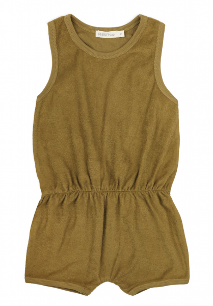 Phil + Phae Frotté Playsuit pear - Overall