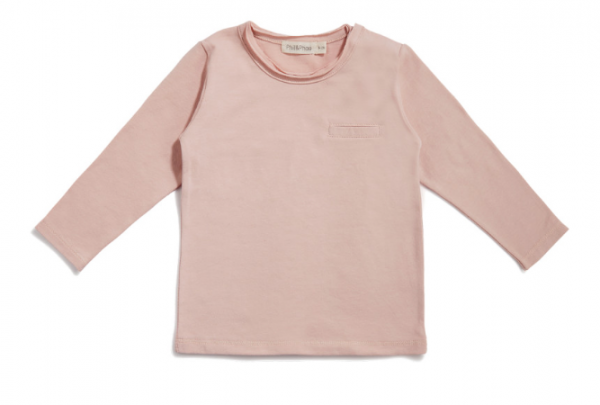 Phil + Phae Pocket tee / Langarmshirt - Vintageblush - 6-12 Monate