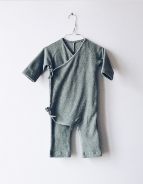 Monkind Ice Wrap Overall / Strampler - Mint