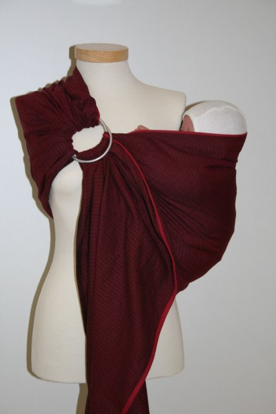 "Storchenwiege Ring Sling ""Leo bordeaux"""