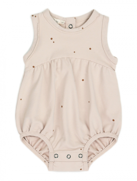 Phil + Phae Bubble onesie - dots shell