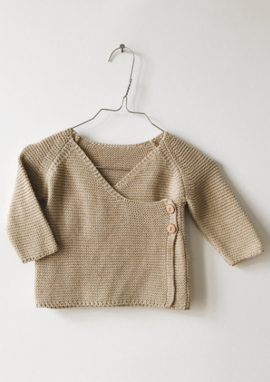 Monkind Dune Knit Wrap Cardigan / Strickjacke - Beige