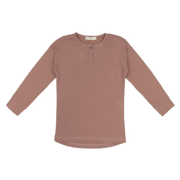 Phil + Phae Rib Henley Shirt - Powder