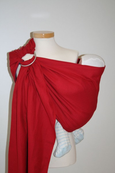 "Storchenwiege Ring Sling ""Leo rouge"""